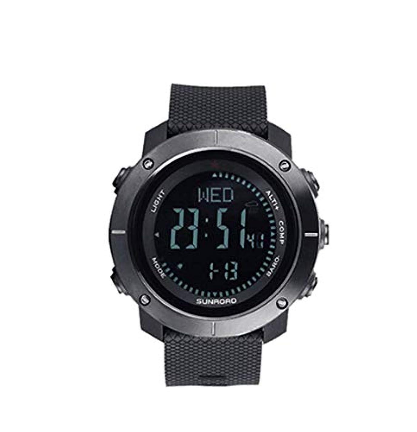 法律あざシンク歩道計の高度計のバロメーター機能のSunroadの走行の屋外スポーツの腕時計
