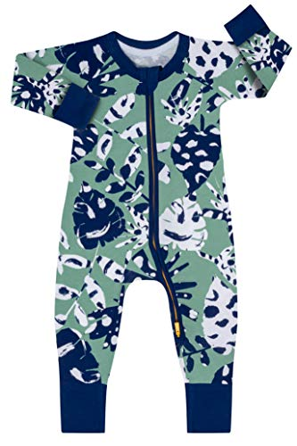 Dim 0A0I Pijama Largo para bebés y niños pequeños, Tropical Verde, 3 Meses