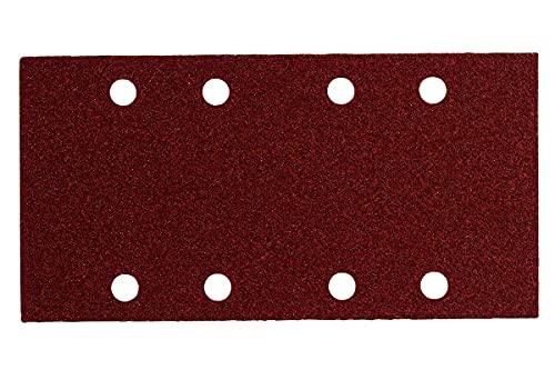 Metabo 625769000 625769000-Hojas de lijar Professional para madera y metal 8 perforaciones enganche velcro 93 x 185 mm P (Envase de 10 Ud), 0 W, 0 V, Negro, Grano 120