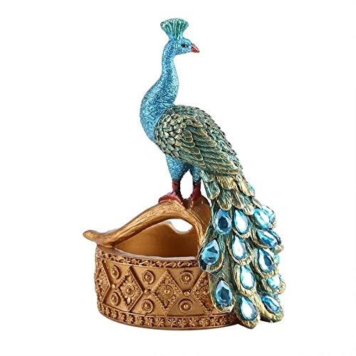 Aiong Cenicero, diseño de Modelado de Pavo Real, cenicero de Resina, Plantas suculentas, Maceta, decoración de Oficina en el hogar, cenicero de Resina