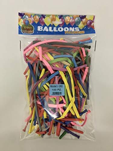 Palloncini modellabili 260, colori assortiti, biodegradabili, cartone da 5 buste da 100 pezzi a busta- Totale 500 pezzi