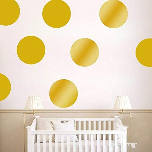 Coner Stippen Muurstickers Voor Kinderkamer Gouden Stippen Decals Cirkel Kleine Polka Sticker Home Decor Muurschildering, Goud, 3cm54pcs