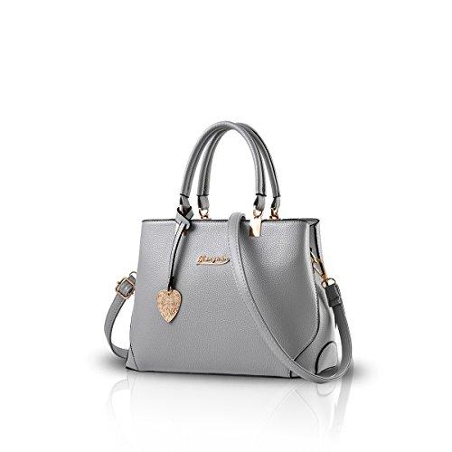 NICOLE&DORIS Handtaschen für Damen Handtaschen für Frauen Damen Henkeltaschen Taschen für Damen Schultertasche Hellgrau