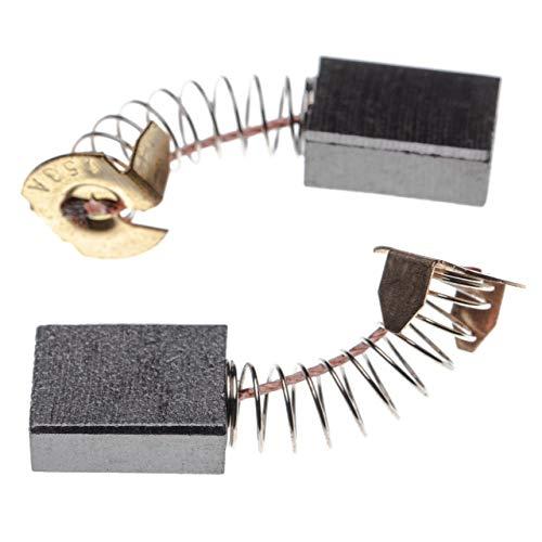 vhbw 2x Escobillas, carbonos, escobillas de carbono 6,5 x 13,5 x 17mm compatible con Makita LS1040F, LS1214F, TW1000 herramientas eléctricas