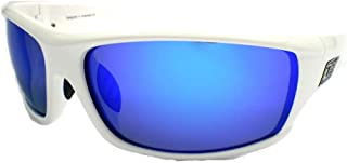 Green Mirror POLARIZED 53443 DIRTY DOG Polarised CLANK Wrap Sunglasses Black