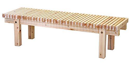 桧 濡縁 W180 (無塗装) [ 約180 x 45 x H41cm ] 【 縁台 】 | 料亭 旅館 温泉 日本家屋 縁側