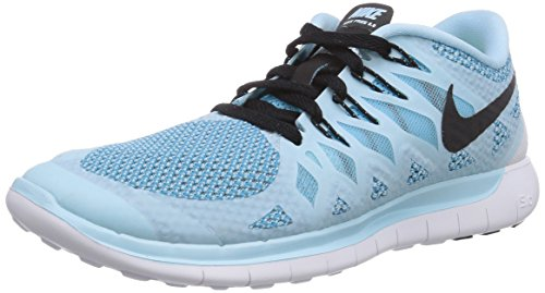 Nike Women's Free 5.0 Running Shoe Ice Cube Blue/Clearwater/Black Size 8 M US