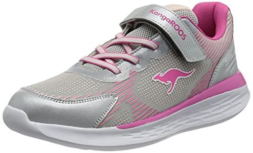 KangaROOS Damen KQ-Bust EV Sneaker, Vapor Grey/Daisy pink, 36 EU