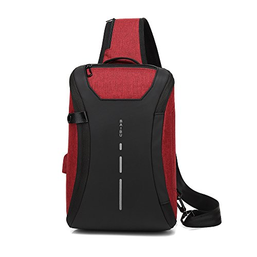 Bolsa profesional Puerto USB Un hombro, bolsa impermeable, diseño del orificio del...