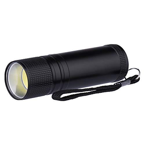 EMOS LED Mini-Taschenlampe mit Handschlaufe, stoßbeständige Metall-Haushaltslampe, Lichtstrom 100 Lumen, 15 m Leuchtweite, batteriebetrieben, black, 2,6 x 2,6 x 8,6 cm, E3894