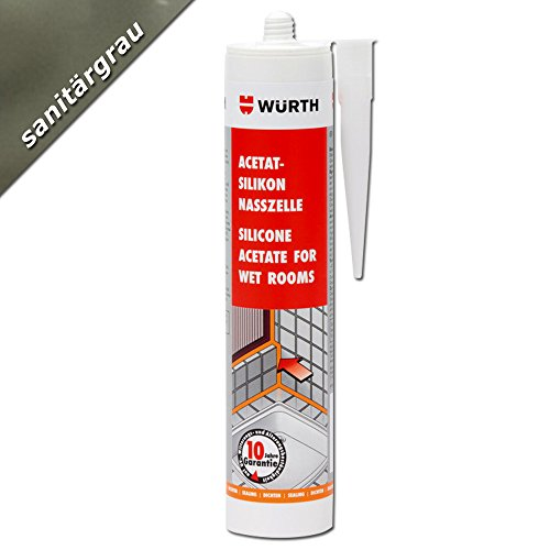Würth respetando - silicona celular sanitaria colour gris 310 ml cartucho