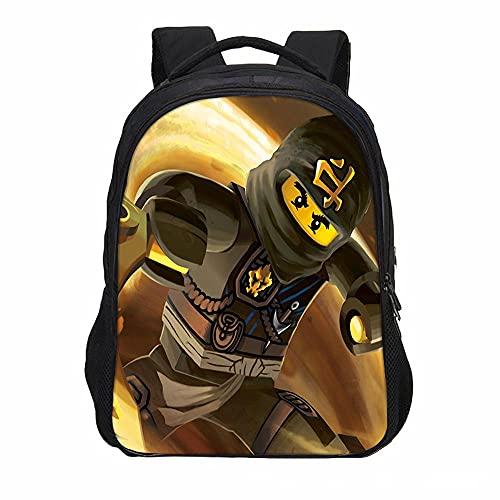 Mingliang Outdoor-Rucksack für Kinder, Cartoon-Ninja-Print, mehrschichtige Freizeit-Jugendtasche mit großer Kapazität 15-40 * 27 * 17cm