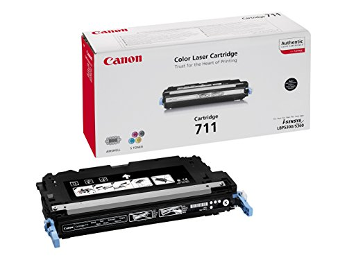 Canon cartucho 711 de tóner original negro para impresoras láser i-SENSYS LBP5300, LBP5360, i-SENSYS MF8450, MF9130, MF9170,MF9220Cdn, MF9280Cdn