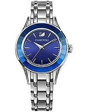 ساعة اليجريا الفضية للنساء من سواروفسكي، مع سوار من الستانلس ستيل، طراز 5194491