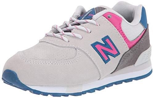 New Balance Mädchen 574v2 Sneaker, Grau (Light Grey Light Grey), 37 EU