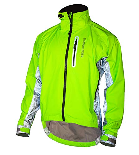 Showers Pass Men's 3M Scotchlite Hi-Vis Elite Waterproof Cycling Jacket (Neon Green/Reflective Silver - X-Large)