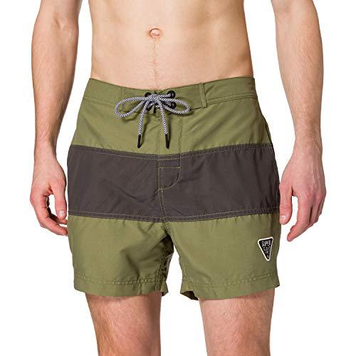 Superdry Mens SURF Retro Boardshort Board Shorts, Capulet Olive, M
