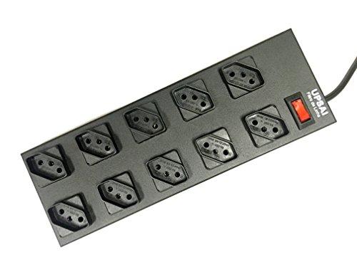 Filtro de Linha Upsai 10 tomadas espaçadas Metálico Preto Bivolt Profissional Modelo 61502115