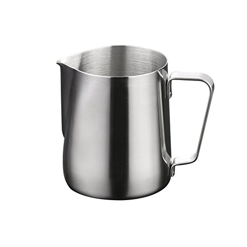 milopon Lattiera Bricco Barista Latte Bricco per latte Milk Pitcher montalatte Brocca Bricco per latte in acciaio inox 100ML