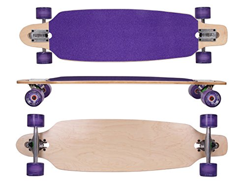 MAXOfit Deluxe Longboard Roxy No.26, Drop Through, 91,5 cm, 9 stratti, ABEC11