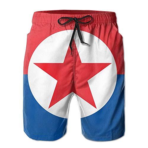 RROOT Noord-Zuid-Korea Vlag Mannen Surfen Snel Drogen Zwembroek Strand Shorts Strand Broek met Pocket