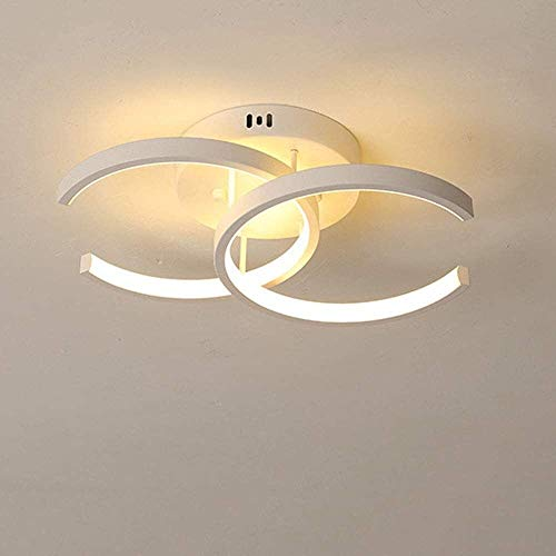 Lámpara de techo, 18W LED Techo Luz blanca Metal y acrílico Lámpara de techo 6000k Frío Luz blanca Lámpara moderna Lámpara Creativa Lámpara Lámpara Sala de estar Balcón Oficina Habitación de escritura