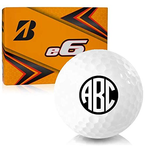 Bridgestone e6 Monogram Personalized Golf Balls