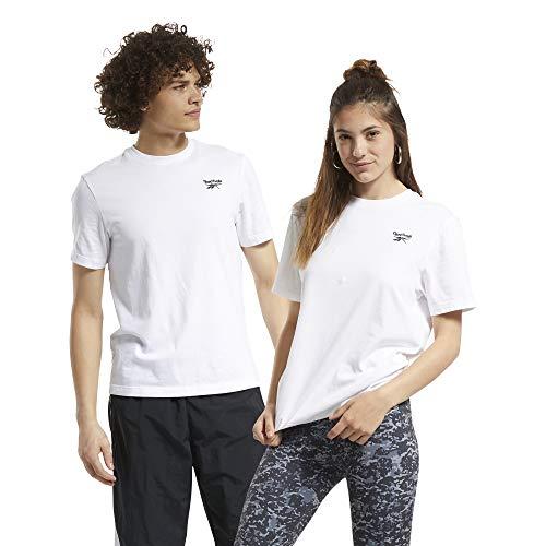 Reebok CL F Small Vector tee Camiseta, Unisex Adulto, Blanco, XS