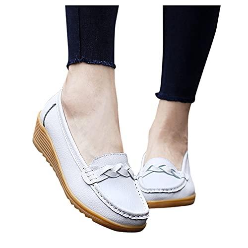 Dasongff Mocassins pour femme - Respirants - Chaussures de bateau - Chaussures plates - Décontractées - Confortables - Pour l été - Pour l extérieur