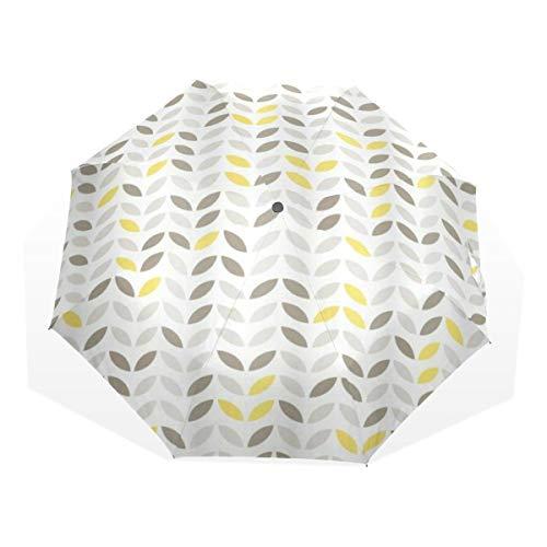 LASINSU Mini Ombrello Portatile Pieghevoli Ombrello Tascabile,Pesce stilizzato geometrico con disegni astratti Techno tendenza urbana Design creativo,Antivento Leggero Ombrello per Donna