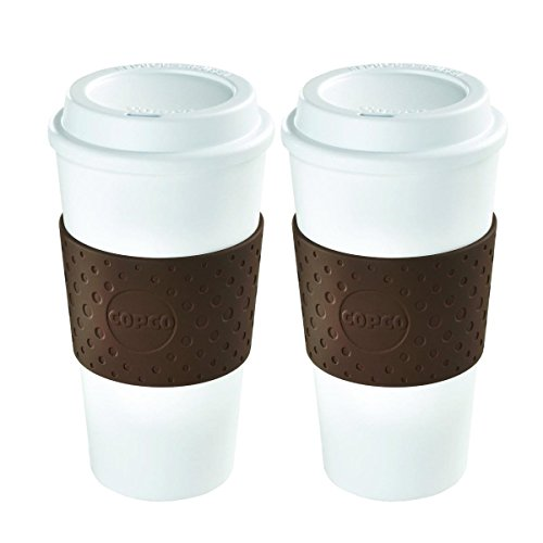 Copco 2510-9963 Acadia Reusable To-go Mug, 16-ounce Capacity, Brown - Pack of 2
