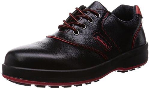 [シモン] 安全靴 短靴 SL-11 黒/赤 27.5 cm 3E