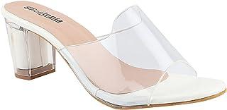 Shoetopia Womens/Girls Transparent Solid Block Heels