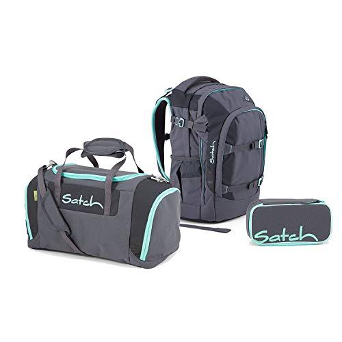 Satch Pack Schulrucksack Set 3tlg Topstar Ed. (inkl. EtuiBox + Sporttasche) 30l (Mint Phantom)