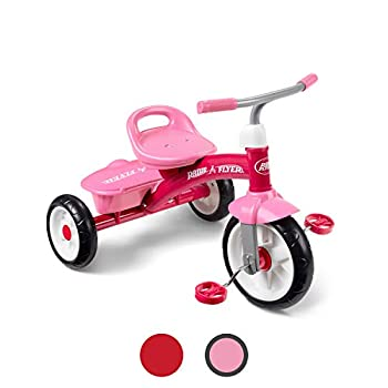 Radio Flyer Pink Rider Trike outdoor toddler tricycle ages 3-5  Amazon Exclusive