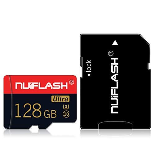 Micro SD Speicherkarten 128 GB TF-Karte Klasse 10 Entwickelt für Android-Smartphones, Tablets Klasse 10 SDXC-Speicherkarte mit Adapter (128 GB)