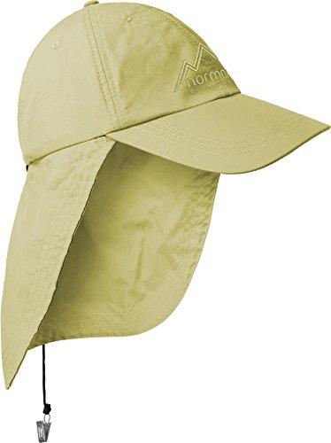normani Safari Cap mit extra langem Nackenschutz Größenverstellbar Farbe Khaki