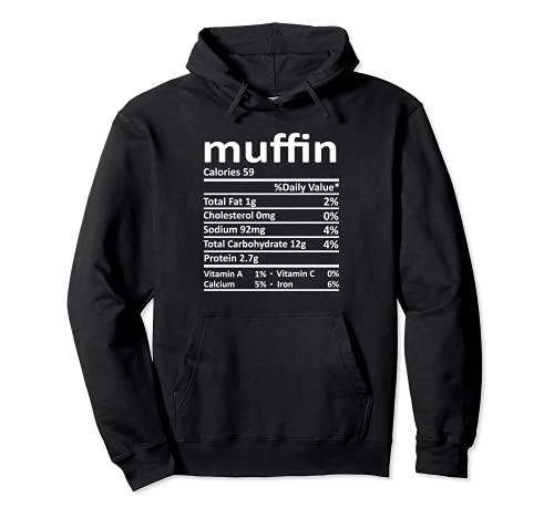 Nutricin Muffin Funny Accin de Gracias Comida Navidad Sudadera con Capucha