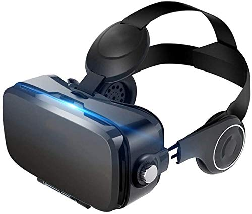 DDRY Auriculares de realidad virtual VR Gafas para iPhone 12/Pro/Max/Mini/11/X/Xs/8/7 para teléfonos Samsung y Android, con 4.7-6.8 pulgadas, Z079MK (color: negro)