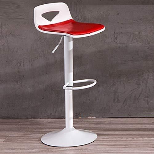 KMMK Bar, cafetería, silla de restaurante, silla de bar giratoria de 360 °, taburete de bar ajustable con elevación libre, taburete de cera de aceite cómodo y duradero, barra de café para el desayu