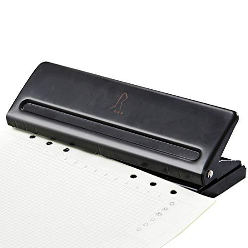 6 Fach Locher Binder Puncher für Verstellbare Abstände für A5 Größe Sechs Ringbuch Planer - 5 mm Lochdurchmesser