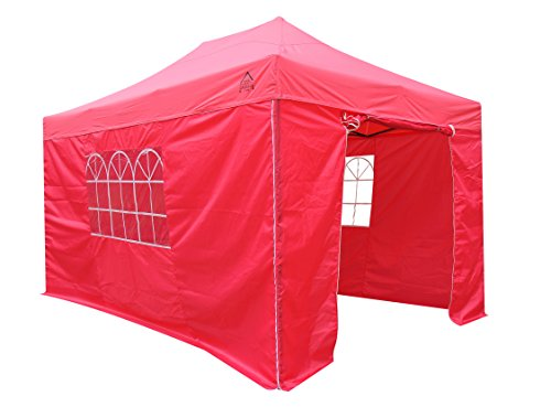 All Seasons Gazebos Heavy Duty, 100% waterproof, 3x4.5m Pop up Gazebo with 4 x fully waterproof Side Walls. 17 Colours ava