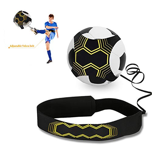 Haolgo Fußball Kick Trainer, Solo Fußball Trainer mit Adjustable Waist Belt Training Aid Control Skills für Kinder Anfänger Kick Off Trainer