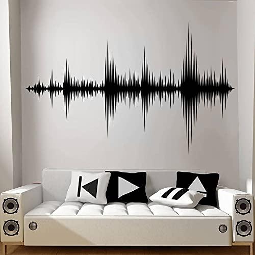 Ola de audio etiqueta de la pared sonic art vinilo adhesivo estudio de grabación productor de música decoración de la habitación papel tapiz A1 91x57cm