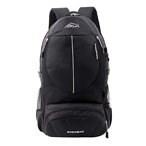 ZZKHSM Mochila de senderismo de 20 L, transpirable, para exteriores, senderismo, camping, color negro