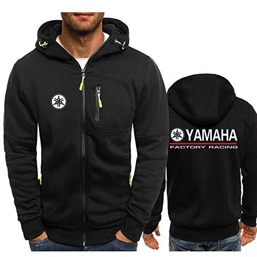 SKJYAYA Chaqueta Capucha Zipper con Cordón Delgado por Ya.M_Ah.A-S Impreso Clásico Casual Sweatshirt Blusa / Negro1 / XL
