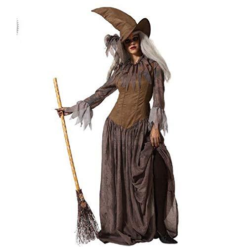 ATOSA disfraz bruja marrón adulto XS