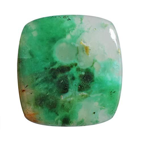 Cabujón de crisoprasa verde natural, tamaño 30 x 28 x 5,5 mm colgante piedra hecho a mano, fabricación de joyas, suministro de crisofrasa, 24996