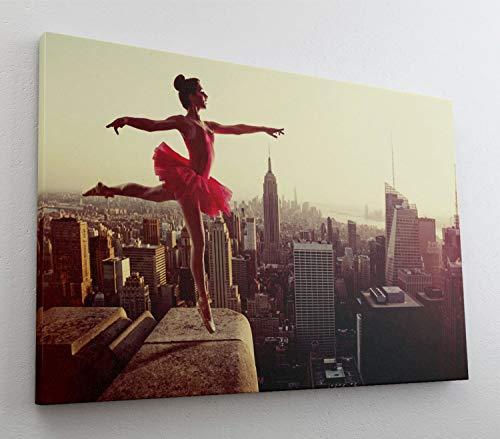 Ballett Tanz New York Skyline Leinwand Bild Wandbild Kunstdruck L0785 Größe 70 cm x 50 cm