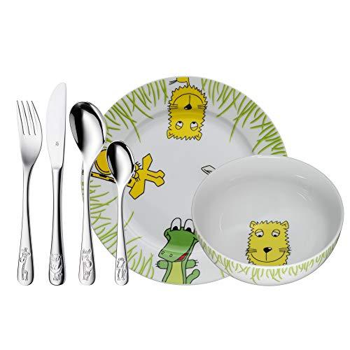 WMF Safari - Vajilla para niños 6 piezas, incluye plato, cuenco y...